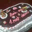Malinovo-čokoladna torta za mojo malčico
