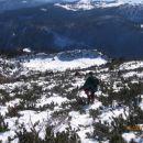 Kar po borovcih in globokem snegu do planine