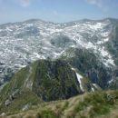 Zeleni greben do Lemeža, v ozadju greben Krnčice