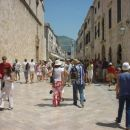 Main street in Dubrovnik, high prices, the only place along Croatian coast with a lot of A