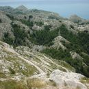 A view from the top of Biokovo (1762 m, Croatian coast) in general direction of the sea. M