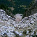 Košutnikov Turn (2134 m) - Pogled oz. bolje rečeno prepad v dolino