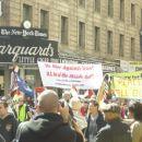 Anti Bush protest...Je blo kar napeto...