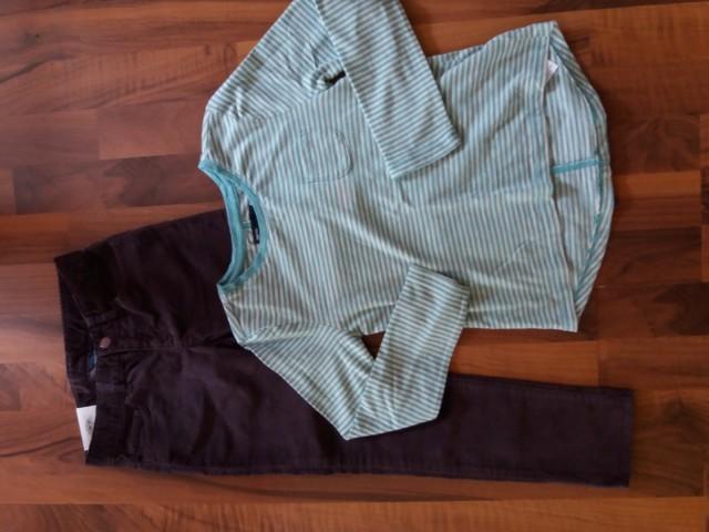 Gap hlače in majica, št. 6-7, vendar bolj ustreza 7-8