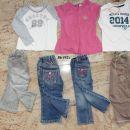 86-92 majice, kavbojke + 1 majico in trenerke podarim. vse skupaj 8€