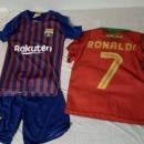 122-128 športna fantovska oblačila, majica in kratke hlače Ronaldo