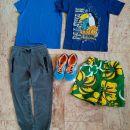 146 152 oblačila za fanta najstnika, majice hlače, čevlji 36