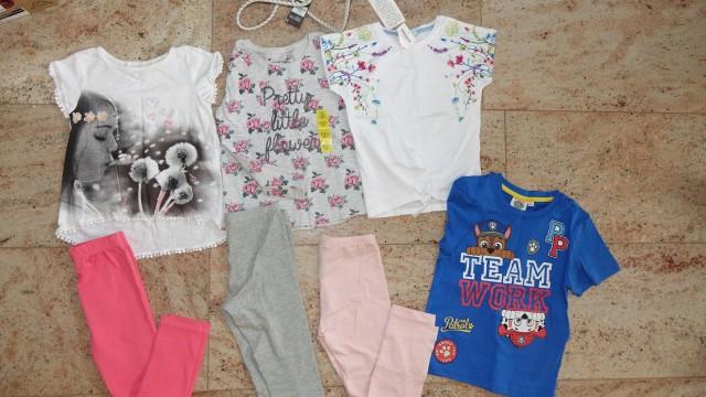 104, 110 in 110-116 dekliške oblačila. majice pajkice