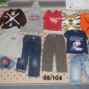 98 104 otroška fantovska oblačila: jeans hlače majice jopa pulover kapa
