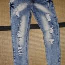 nove raztgane jeans hlače kavbojke moške ali najstniške