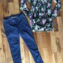 komplet tunika+zara jeans pajkice št. 140-146;10eur