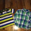 hm srajčka in polo majica kik št. 116-122;3,5eur