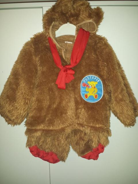 Pustni kostum,  medvedek, 18-24 mes, 10€