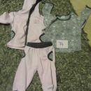 komplet, majčka, hlače, jopica, dobro ohranjeno