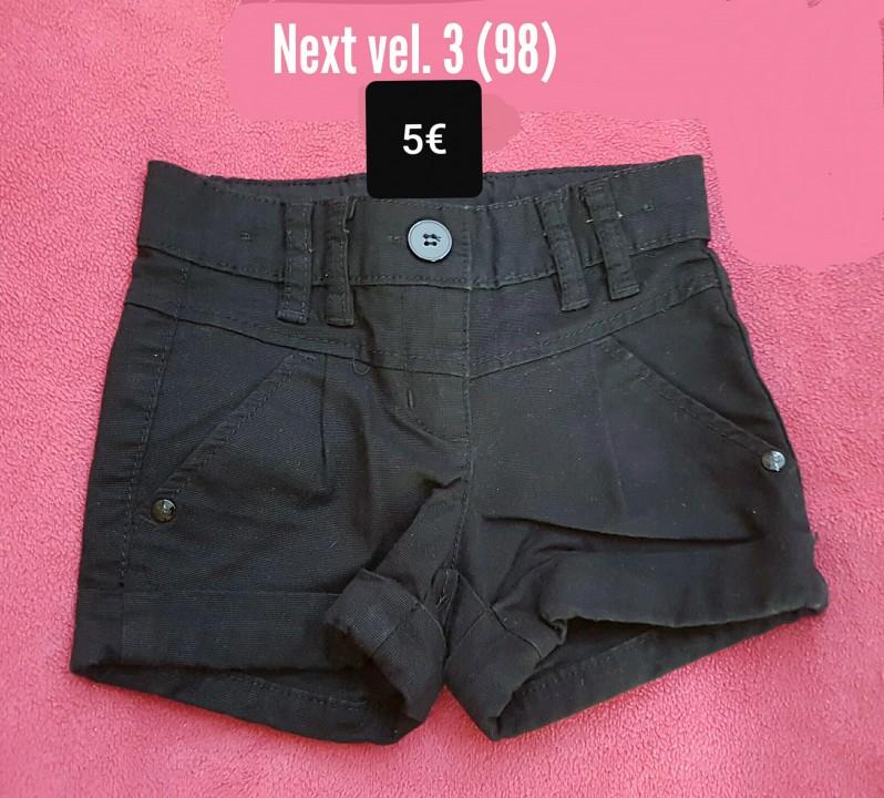 Kratke hlače Next - črne - vel. 3 (98)