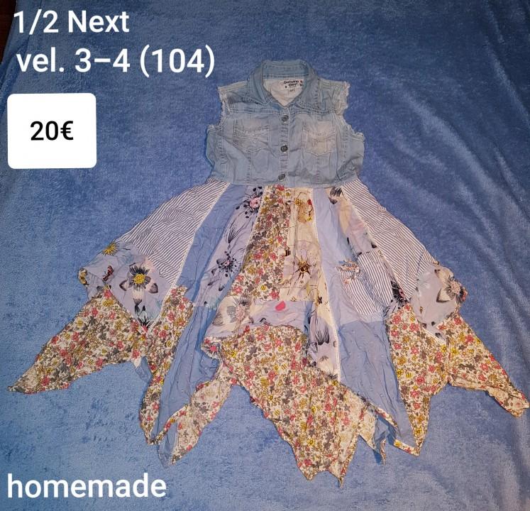Homemade oblekica v kombinaciji z Next vel. 3-4 (104)