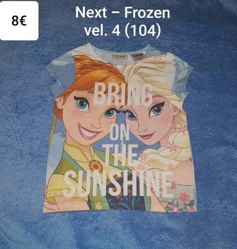 Majica kratek rokav Next - Frozen vel. 4 (104)