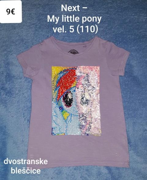 Majica kratek rokav Next - My little pony vel. 5 (110)
