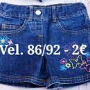 Kratke jeans hlače vel. 86/92