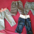4 podložene zimske hlače 62-68