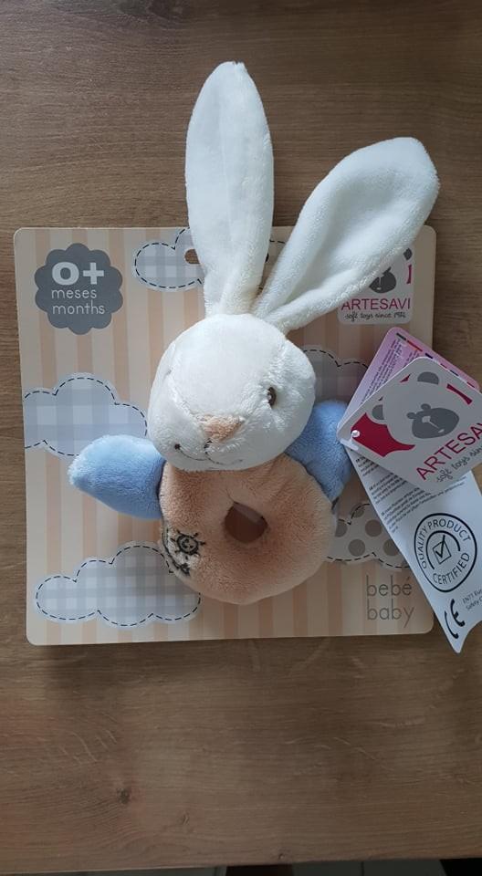 Igračka za dojenčka / ropotuljica zajček - foto povečava