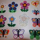rožice, metuljčki