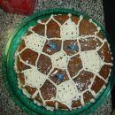 moja 1. torta - sadna - nogometna žoga (kao) :))
