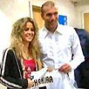 La cantante Shakira presencio el derbi Real – Atletico el pasado sabado. El presiden