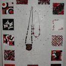 A rezultat je krasno stojalo/pano/slika za nakit.....manjka še Matejin del, ki je prišel p