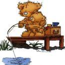 2 medvedka lovita ribe