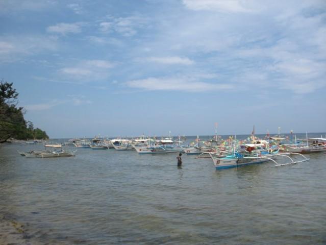 Port in Palawan island