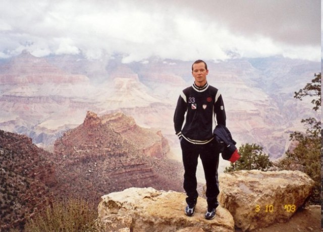 Me inside the Grand Canyon National Park in Arizona