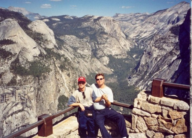 With friend Renato in Yosemite National Park, located in the Sierra Nevada mountains