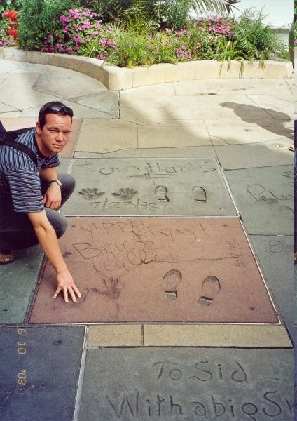 Before Hollywood's Grauman's Chinese Theater, home to the hand & footprints of the Hollywo