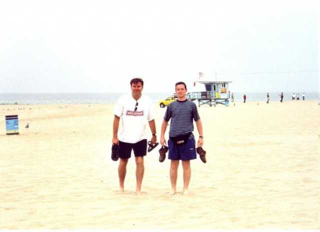 On the Venice Beach with my friend Renato in Los Angeles