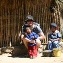 Visiting the local peruvian people