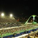 The Sambódromo, a giant permanent parade stand used during Carnival