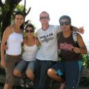 Luciene, Claudia, me and Jose on Corcovado mountain