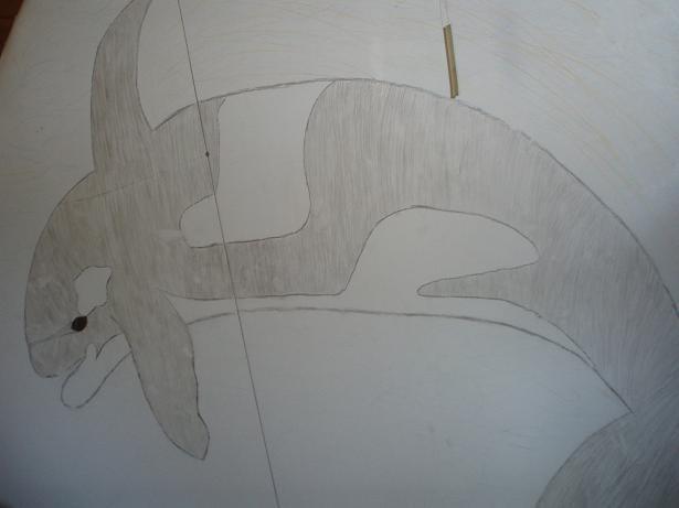 narisala pred leti na steno v sobi