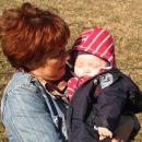 Z babico, ko smo šli gledat kako raste roža Velikonočnica.