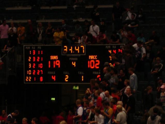 Rezultat tekme Suns vs. Maccabi tik pred koncem