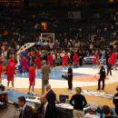 Ekipa moskovskega CSKA pred tekmo proti Philadelphia 76´ers