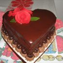 Čokoladno srce, saher torta