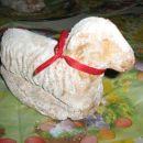 Velikonočna ovčka-biskvitno testo