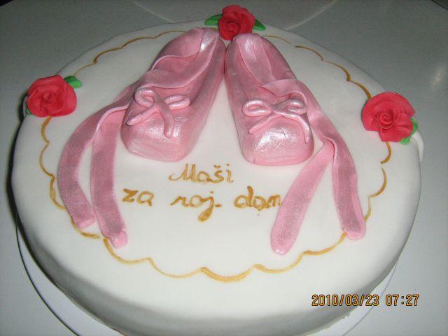 Torta z baletnimi copatki