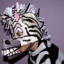 kaširana pustna maska - zebra