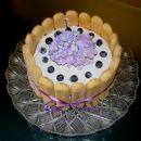 Nekaj vijoličastega - borovničeva mascarpone torta brez peke