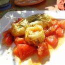 ohrovtovi zvitki s krompirjem in suhimi paradižniki