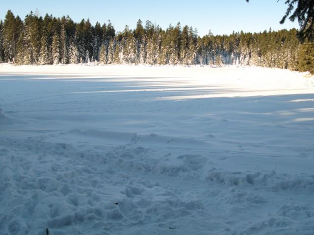 Črno jezero v hladnem objemu