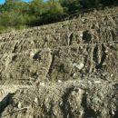 slika 05 Globoki žlebovi in kamenje, ki ga voda ni mogla odnesti.